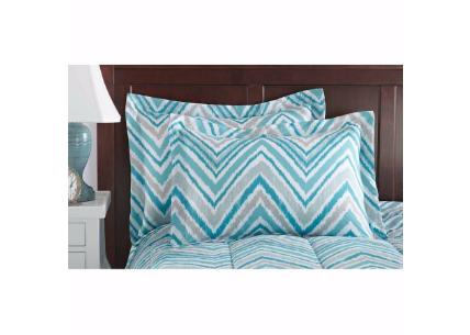 Mainstays Watercolor Chevron Bed in a Bag Coordi