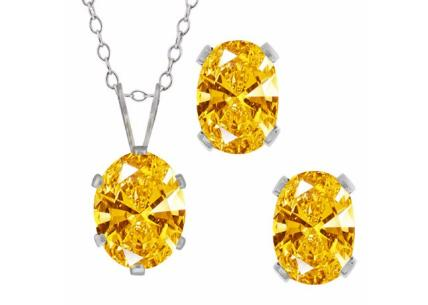 2.73 Ct Golden Yellow 925 Sterling Silver Pendan