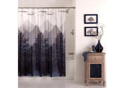Excell Misty Mountain Shower Curtain