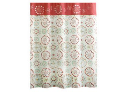 Excell Flower Bomb Shower Curtain